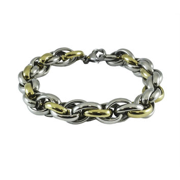 Stainless steel bracelets Wheat Link Yellow Gold Plated