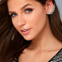 You're the Stun Silver Rhinestone Ear Cuff