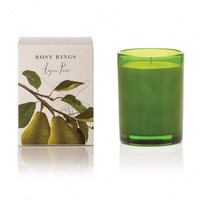 ROSY RINGS ANJOUR PEAR BOTANICA GLASS CANDLE