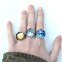 Planet Rings in Earth and Jupiter / More Coming by glowwormshop