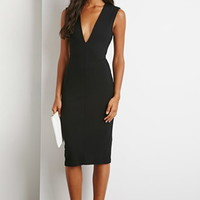 Cutout Back V-Cut Dress