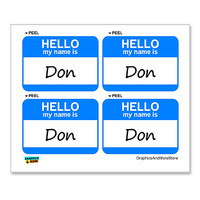 Don Hello My Name Is - Sheet of 4 Stickers