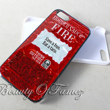 Taco Bell Packet Fire for iPhone 4, iPhone 4s, iPhone 5, iPhone 5s, iPhone 5c Samsung Galaxy S3, Samsung Galaxy S4 Case