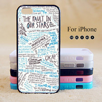 OKAY OKAY,The Fault in Our Stars, iPhone 5 case,iPhone 5C Case,iPhone 5S Case, Phone case,iPhone 4 Case, iPhone 4S Case,Case-IP002Cal