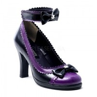 DEMONIA Pumps GLAM-40 schwarz/lila