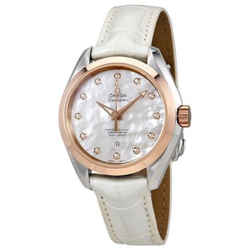 Omega Seamaster Aqua Terra Automatic Mother of Pearl Dial Ladies Watch