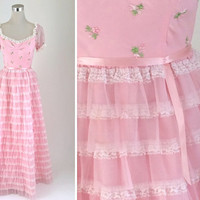 Pink Tulle Dress - 1960's Dress - 60's Vintage Dress - Baby Pink Party Dress - Nadine Prom Dress - Pretty in Pink