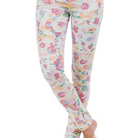 Junior Flower Burst Skinny Jean