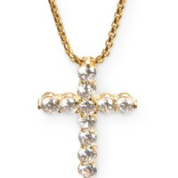 Veritas Romulus Cross 24kt Yellow Gold Necklace