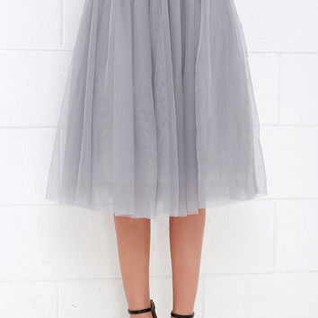 Urban Fairy Tale Grey Tulle Skirt