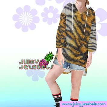 EASY TIGER Rave Wear Oversized Hoodie Oversized Sweater Oversize Hoodie Oversized Jumper Loose Sweater Rave Outfit Festival Clothing