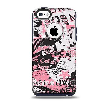 The Pink & Black Abstract Fashion Poster Skin for the iPhone 5c OtterBox Commuter Case