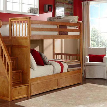 Simon Twin over Twin Stairway Bunk Bed