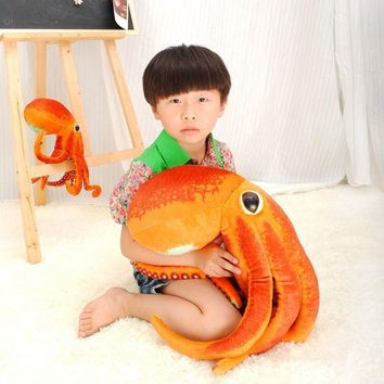 Free Paul Octopus  Plush Toys Dolls the cute Pillow Seat Cushion Backrest the stuffed toys for children  Christmas gifts