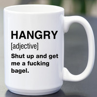 Hangry Definition Coffee Mug