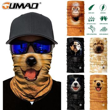 3D Cat Dog Seamless Magic Neck Gaiter Face Mask Shield Tube Balaclava Cycling Camping Ski Biker Bandana Headband Scarf Men Women