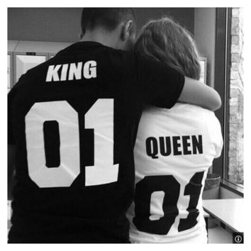 King - Queen - Couple's T-shirt