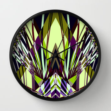 SWEEPING LINE PATTERN I-E4A Wall Clock by Pia Schneider [atelier COLOUR-VISION]