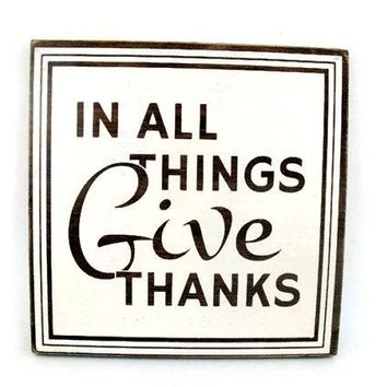 Rustic Wood Sign Wall Hanging Home Decor - In All Things Give Thanks (#1213)