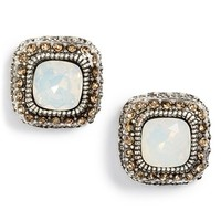 Junior Women's BP. Ornate Stone Stud Earrings