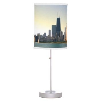 Sunrise Over Chicago Desk Lamp
