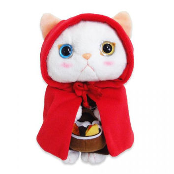 Choo Choo Cat Plush Doll with Red Hood (S / White)