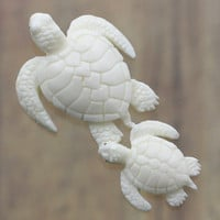 Turtle, Carved Bone