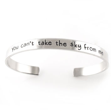 You can't take the sky from me - Cuff Bracelet