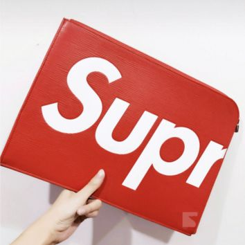 SUPREME Women Shopping Bag Leather Satchel Tote Handbag