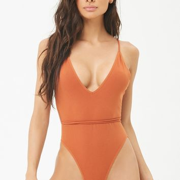 Seamless Backless Lingerie Bodysuit