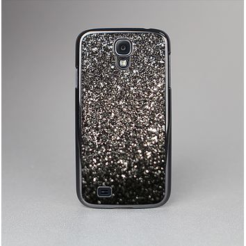 The Black Unfocused Sparkle Skin-Sert Case for the Samsung Galaxy S4