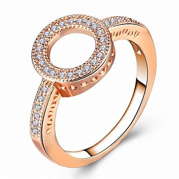 Women Round Finger Rings Wedding Jewelry
