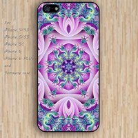 iPhone 5s 6 case colorful pink lotus mandala phone case iphone case,ipod case,samsung galaxy case available plastic rubber case waterproof B336