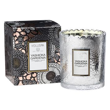 Yashioka Gardenia Scalloped Edge Candle