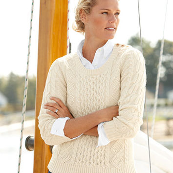 Women's Coveside Sweater, Cable Pullover | Now on sale at L.L.Bean