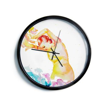 "Cecibd ""Espana I"" Multicolor People Modern Wall Clock"