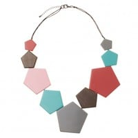 Orlanda Geo Wood Necklace