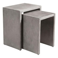 Mom Nesting Side Tables Concrete Cement