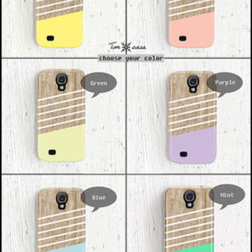 Samsung galaxy note 2 case wood Samsung galaxy s3 case stripe Galaxy 4 case geometric Galaxy 3 case mint samsung galaxy s2 case cute /c185