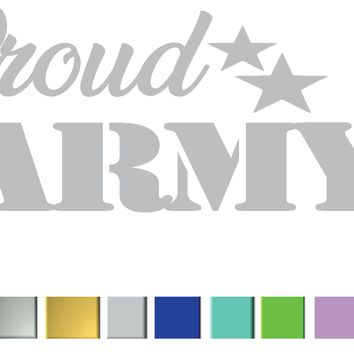 Proud Army Son Vinyl Graphic Decal
