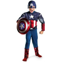 Disguise Limited Boys' Captain America Avengers Classic Muscle Costume Multicoloured Small