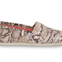 TOMS Natural Canvas Snake Women's Classics Natural
