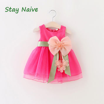 The latest version Baby Girl Tutu Dress  Kids Cute Lace Flower Summer Party Princess Dresses baby girl Christmas Clothes