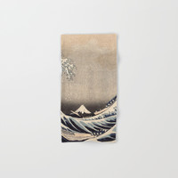Hokusai the wave 1-hokusai,manga,fugi,japan,kanagawa,wave,edo,mount fuji Hand & Bath Towel by oldking