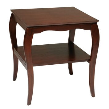 Office Star End Table in Cherry Finish [BN09CHY]