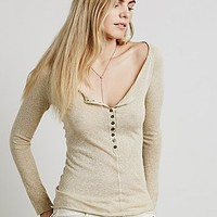 Free People Womens Wide Eyes Henley