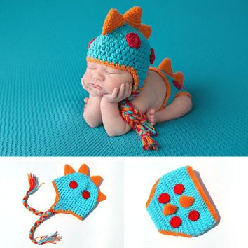 Crochet Dinosaur Design Baby Newborn Photography Props Knitted Baby Dragon Costume Crochet Baby Clothes Newborn Photography Set