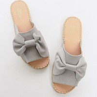 Park Lane Wide Fit Suede Bow Espadrille Sliders at asos.com