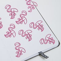 NPW Flamingo Paper Clips