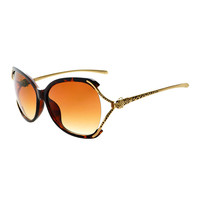 Metal Arms Large Womens Designer Fashion Sunglasses O65